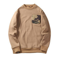 2018 new autumn and winter male camouflage sweater warm male large size sweater Khaki s