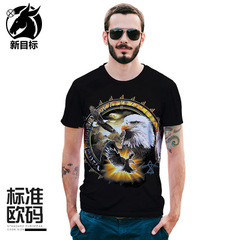 2019 summer new creative anime monkey 3D printing T-shirt large size men's clothing DX1012 M men t-shirt