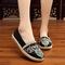 Genuine cloth shoes female folk wind soft bottom slip - resistant leisure walking mother shoes black 39yards