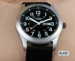 Men Watches Fashion Casual Quartz Nylon Watch Sports Leather Curren Canvas Business Watch For Men Black Universal