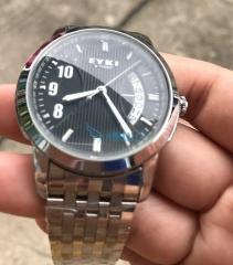 watches men business calendar steel date casual curren gentleman watch for men watched watchs black universal