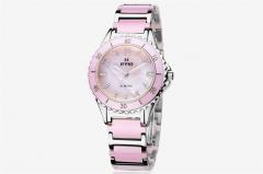2018 Fashion  Women Watches  Ceramics Jewellery Waterproof  Casual Wrist Watch Ladies Watch Jewelry pink