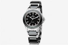 Watch Women golden Watches Ladies Ceramics Jewellery Casual Smart  Steel Jewelry watch for female black