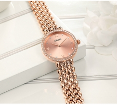 Fashion Women Watches in Retro Style Set With Zircon Jewellery Alloy Narrow Band  Wrist Watch Ladies gold