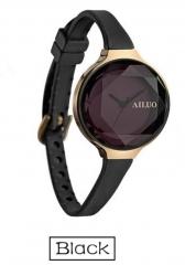 Womem Watches Quartz Jewellery WristWatch Diamond Cut Retro Style Bracelet Hand Chain Watch Ladies black middle