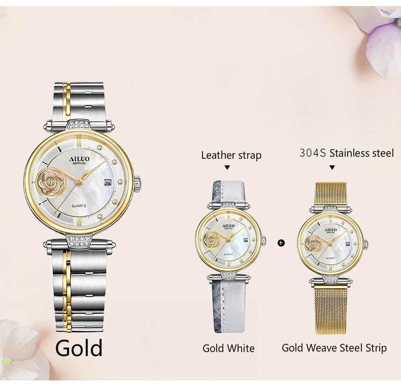 b5790e5780c Women Watches Leather Milanese Stainless Steel Calendar ...