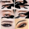 Cute Cat Eyshadow Eyeliner Stencil Kit for Eyebrows Guide Template Maquiagem Eye Shadow Frames white