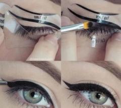 Lazy Eyeliner Eye Shadow Card Helper cat eye line draw Eyeliner Card white