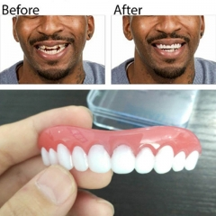 Instant Smile Comfort Fit Flex Teeth Whitening Denture Paste False Teeth Upper blue