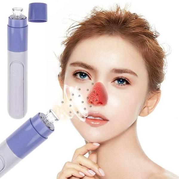 Fashion Facial Skin Care Pore Blackhead Remover Cleaner Vacuum Acne Cleanser blue
