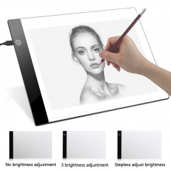 A4 LED Tattoo Art Stencil Board Light Box Intelligent Electronic Thin Art Board Tracing Drawing As Picture Stepless Adjust Bright