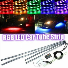 4x 8 Colors LED Strip Under Car Tube Underglow Underbody System Neon Light Kit colour