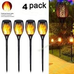 1-4X 33LED Solar Power Torch Light Flickering Flame Garden Waterproof Yard Lamp Warm light 1PCS 33LED