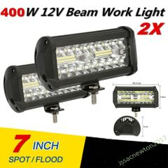 New 2x 400W 7''Car LED Work Light Bar Spot Flood Beams Combo For Off-road SUV Truck 2pcs 400w