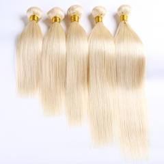 Top 8A Grade #613 Brazilian Virgin Remy Straight Weave 100g 12inch-24inch 100% Human Hair Bundle 613 12 inch