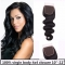 Top 8A Grade Brazilian Virgin Remy 4x4 Lace Closure body Free Part/Middle Part Natural Black natural black 10 inch