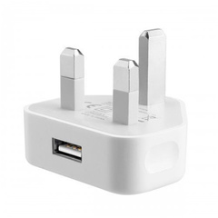 NJ High Quality USB Triangle Charger 1A Wall Charger Adapter  For IPhone And All Smart Phone White 1PCs Charger