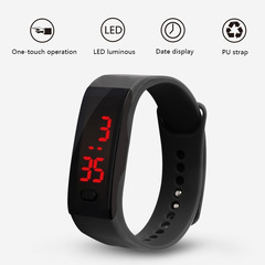 NJ Mens Womens Rubber LED Watch Sports Bracelet Digital Wrist Watch Watches Christmas Gifts black 1 Pc