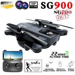 2019 Newest SG900 Drone Dual Camera HD 720P FPV Wifi Drone Fixed Point Altitude Hold Follow Me Drone Black SG900 Drone with 720p HD Dual Camera(22mins/2200mA