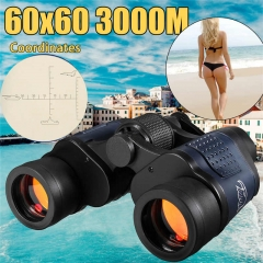New Style 60x60 Telescope Night Vision Binoculars High Clarity 3000M Outdoor Hunting Sports Eyepiece High-powered high-definition green film Telescope