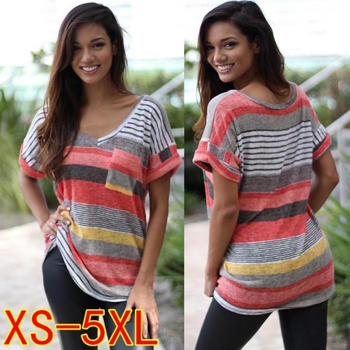 ee8468475aab Kilimall  Fashion Women Summer V-neck Irregular Loose Casual Short ...