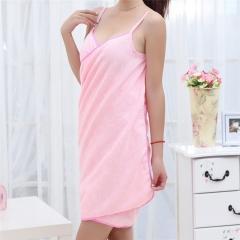 Bath Towels Fashion Lady Girls Wearable Fast Drying Magic Bath Towel Beach Spa Bathrobes Bath Skirt Pink Approx.140cm x 70cm(L x W)