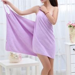 Bath Towels Fashion Lady Girls Wearable Fast Drying Magic Bath Towel Beach Spa Bathrobes Bath Skirt Purple Approx.140cm x 70cm(L x W)
