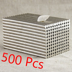 500/100Pcs Neodymium Magnet Permanent N35 NdFeB Super Strong Powerful Round Magnetic Magnets Disc 500pcs Silver 4MM*2MM