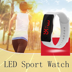 Hot Fashion Silicone Strap Touch Screen Digital LED Waterproof Sport Wrist Watch Men Women Watches WHITE ONE SIZE