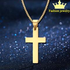 1PCS Vintage Cross Pendant Necklace 3Color Classic Gold Chain Cross Necklace Men Women Cross Jewelry Gold Cross 60cm