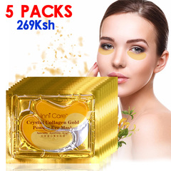 5 Packs Crystal Collagen Eye Mask Eye Patches for The Eye Anti-Wrinkle Face Mask Eye Care Eye Mask Gold