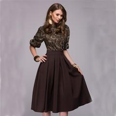 2019 New Dress! Fashion Women Spring Autumn Casual Elegant Prom Long Dresses ladi dress s gray