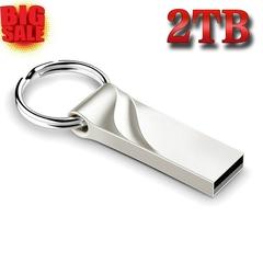 2019 Newest 2TB Usb Fash Disk !!!USB 2.0 Flash Drives Corrugated 2TB Memory USB Disk Storage silver usb flash disk 2tb(1900gb)