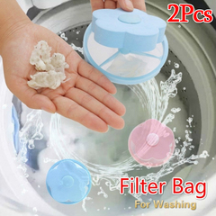 Washing Machine Filter Bag Hair Remover Net Bag Hair Removal Decontamination Filter Laundry Bag As picture 2PCS