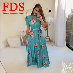 FDS 2019 fashion women dress ladies dress bright Blue crystal color dress sexy dress women s light blue