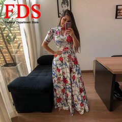 FDS New Fashion Women's Sexy Dress Short-Sleeved Dress Skirt Evening Dress s white