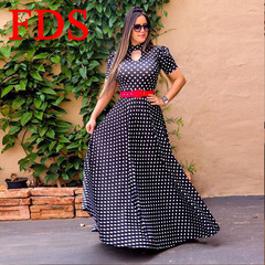 FDS 2019 New Style Dress, Women's Dresses,Long Skirt Dress,Sexy Long Dresses, Short Sleeved Dresses xl black