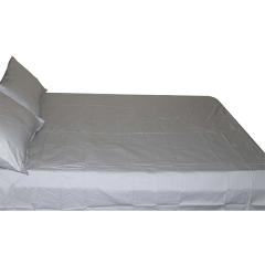 4pcs set  Brand New 100% cotton bedsheet grey 180x230x2