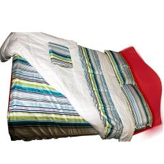 5pcs set Stripped multi- colored duvet stripped multi colored 200x230x1