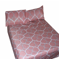 4 pcs set 100% pure cotton pink beddings pink 230x250x1