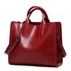 Women's fashion hand bag shoulder bag leather bag leather bag red 1