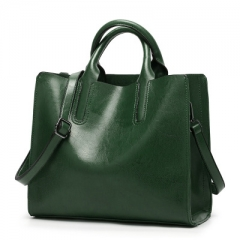 Women's fashion hand bag shoulder bag leather bag leather bag green 1