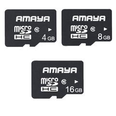 Amaya Micro SDHC 4G/8G/16G Class10 Mini SD Memory Card For Smartphones and Tablets black Amaya 4G Memory Cards