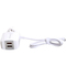 AmayaKenya 2U 3.0A The Triangle Plug Charger Of High Quality White