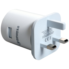 Amaya Round 3.0A Output Rotary charger Fast Charger white normal white