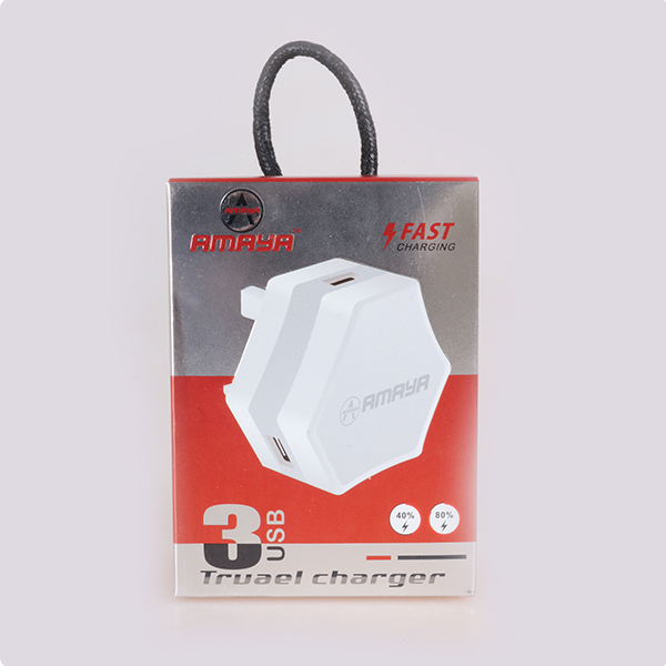 Amaya Nest charger Output Fast Charger 3 USB white
