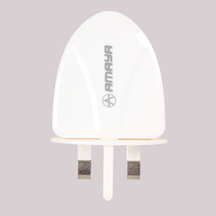 Amaya Kenya 2 USB Plug Charger Of High Quality white