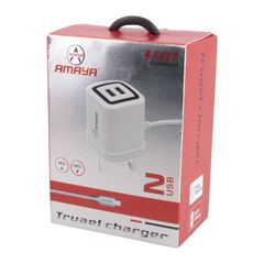Amaya Nest charger 1A Fast Charger 2 USB 80cm white white 80cm