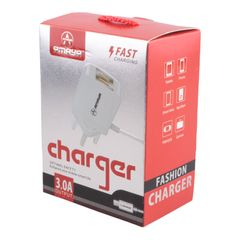 Amaya Nest charger 1A Fast Charger 2 USB 80cm white 80cm
