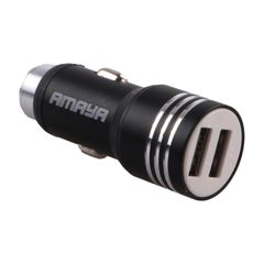 CZ3 Car Phone Charger 2 Port Mini Dual USB Car Charger Adapter Quick Charging at random